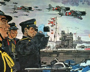 art-Jap_officers_watch_newly_launched_planes